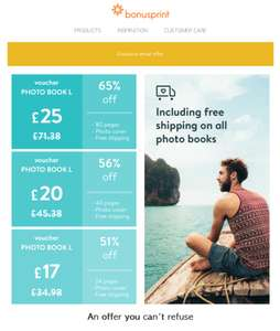 The BonusPrint Photobook offer is back again: Get up to 65% off with our photo book voucher deals!