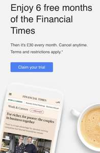 6 months free Financial Times UPDATED*