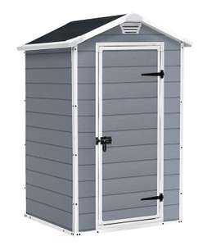 Keter Manor Outdoor Plastic Garden Storage Shed, Grey, 4 x 3 ft  £139.29 @ Amazon
