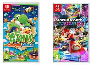 Nintendo Switch - Yoshi's Crafted World + New Super Mario Bros. U Deluxe (or) Mario Kart 8 Deluxe £59.99 delivered @ Currys