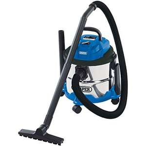 Draper 20514 Wet and Dry 1250W Vacuum Cleaner with 15 Litre Stainless Steel Tank now £48.07 delivered at Amazon