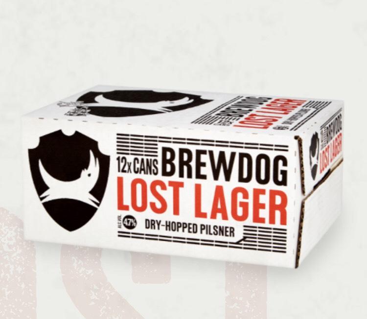 Brewdog Lost Lager 12-Pack - £7.50 @ Brewdog Shop (+£5 P&P)