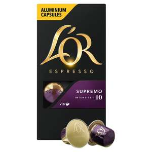 £2.00 per box L'Or Aluminium Nespresso Compatible Coffee Pods £2 at Ocado