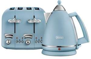 *HALF PRICE* De'Longhi Argento Flora Toasters & Kettles £29.99 EACH + Free C&C Available in 4 Colours @ Argos- Easter Offer
