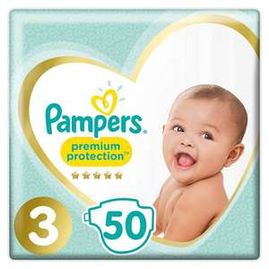 Clearance Pampers Stage 3 premium protection nappies x50 - £2.48 instore @ Tesco