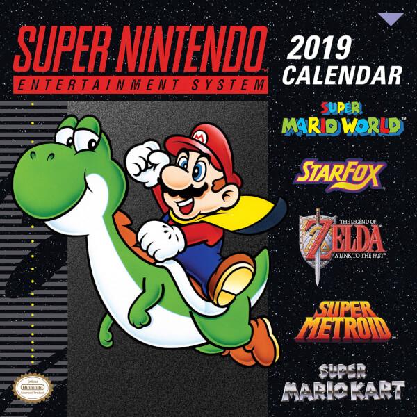 Super Nintendo Official 2019 Calendar £0.99 + £1.99 Delivery @ Official Nintendo UK Store