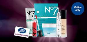 No7 spend £40 & get £7 in reward points + Free Step in to Spring giftset. Includes many 3 for 2 and some 1/2 price items. ONLINE ONLY