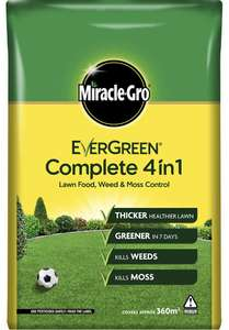 Miracle-Gro EverGreen Complete 4in1 12.6kg - 360m2 at Amazon for £15 Prime / £19.49 non-Prime