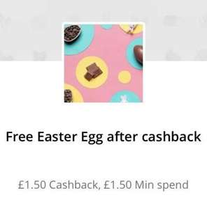 Free easter egg £1.50 from TopCashback  instore only - minimum spend £1.50