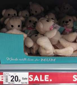 Mother's Day 'Snuggly Bear' only 20p @ Asda Living Wrexham