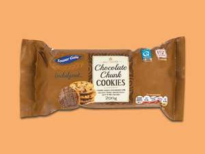 Tower Gate 200g Half Coated Chocolate Chunk or Fruit & Nut Cookies 49p @ Lidl were 99p -Super Weekend 19/4