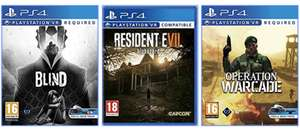 Blind / Resident Evil 7 Biohazard / Operation Warcade (£9.99 each) (PS4 PSVR) Free Click and Collect @ Game