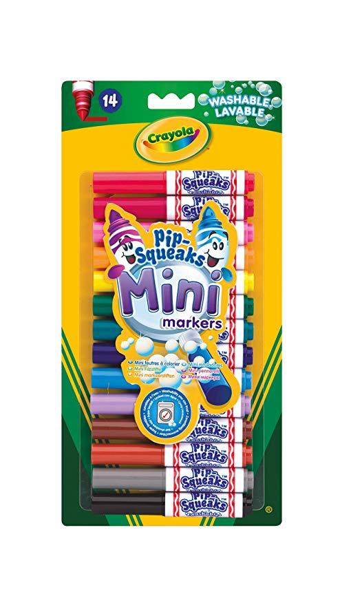 Crayola Pip-Squeaks Mini Washable Felt Tip Colouring Pens, Pack of 14 - £2.17 using 82p voucher @ Amazon (+£4.49 non Prime)