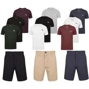 Men's Chino Shorts + 3 T Shirts for £20 with code  + £1.99 delivery @ Tokyo Laundry