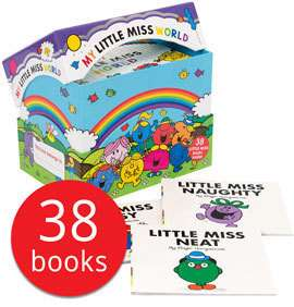 My Little Miss World Collection 38 Books £21.24 / My Mr. Men World Collection 52 Books £29.74 with code @ The Book People