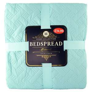 All Luxury Bedspreads 150x200 @ Poundstretcher 10 Colours Available £4.99