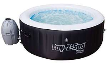 Lay-Z-Spa 54123-BNNX16AB02 Miami Hot Tub, Airjet Inflatable Spa, 2-4 Person - Black £250 @ B&M