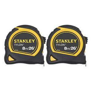 2x 8m Stanley Tape measures £9.99 @ Screwfix