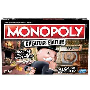 Hasbro Gaming Monopoly Game: Cheaters Edition Board Game Ages 8 and Up @ Amazon Warehouse Like New £11.75 Prime £16.24 Non Prime