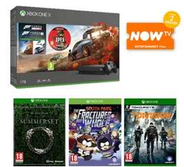 1TB Xbox One X Forza Horizon 4, Forza 7, Apex Founders Pack, TESO: Summerset, South Park TFBW, The Division, NOW TV £409.99 @ GAME
