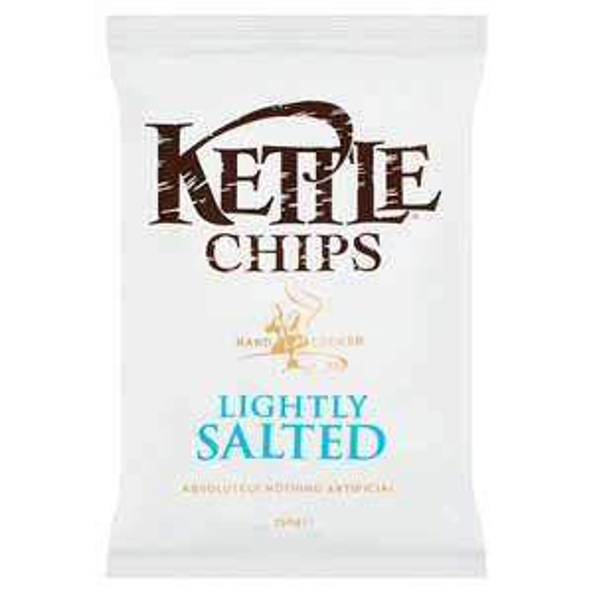 Kettle crisps 150g share bag lightly salted 50p @ Asda