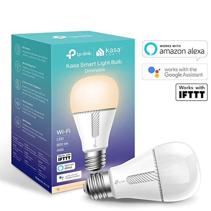 TP-Link Kasa Smart WiFi Light Bulb, E27/B22, No Hub Required £17.99 (Prime) £22.48 (Non Prime) @ Amazon
