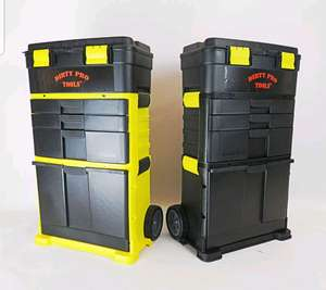 D Pro Tools Mobile Roller Tool Chest Trolley Cart Storage Tool Box Toolbox On Wheel New - £40.49 @ uk-trade-direct eBay