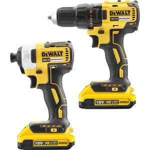 18v Dewalt Brushless impact and combi drills x2 2ah batterys+ charger and tstak case - £189.98 @ Toolstation