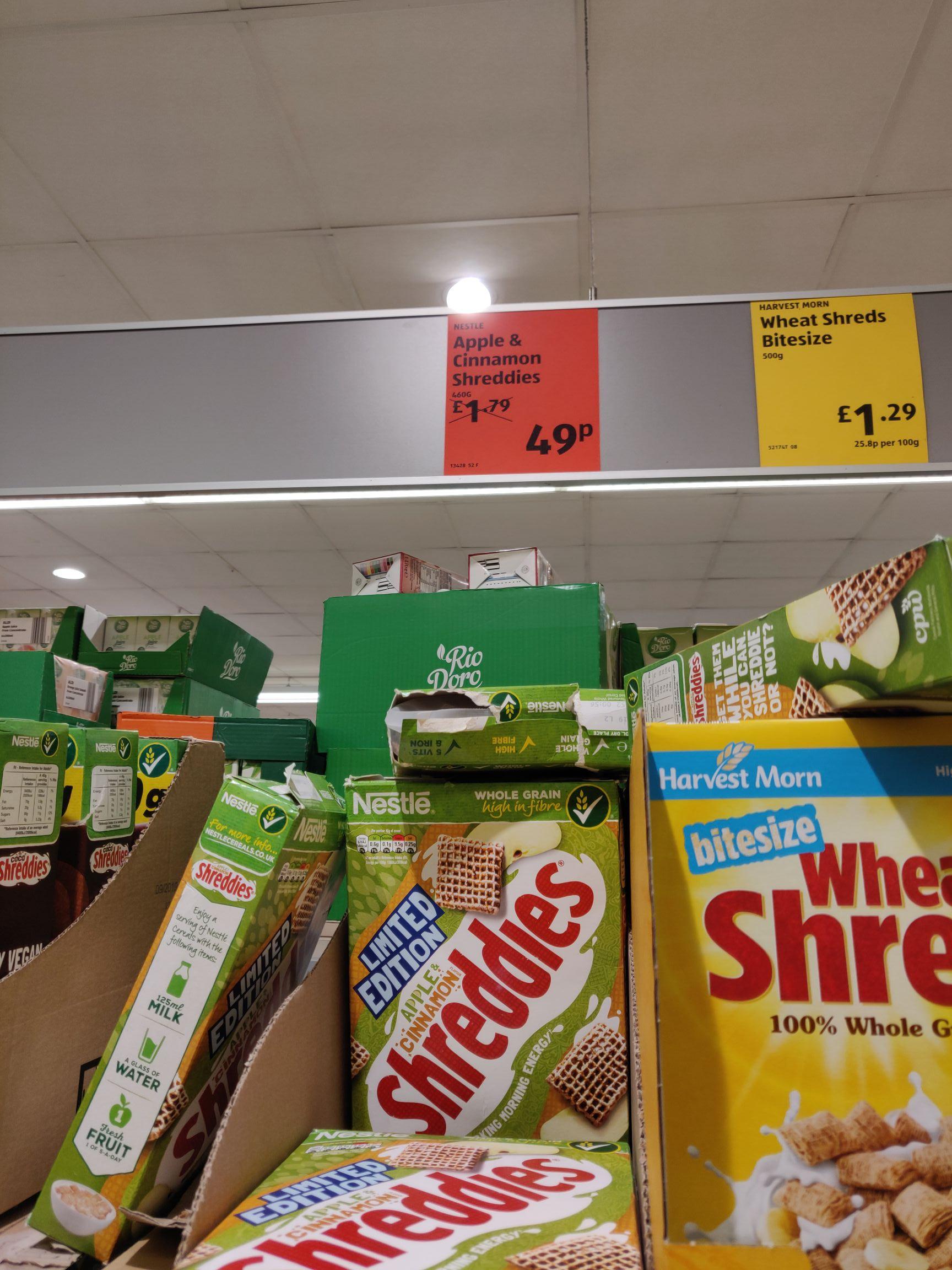 Apple and Cinnamon Shreddies - 49p @ ALDI (Sparkhill)