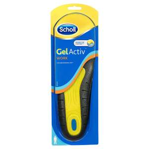 Scholl Men's Gel Activ Work Insoles, UK Size 7 to 12 £6.26  (+ £4.49 non Prime) @ Amazon
