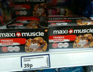 Maximuscle Promax Bars Millionaires Shortbread protein bar 39p @ PoundStretcher in store
