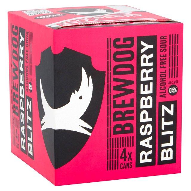 Alcohol Free Brewdog Raspberry Blitz 4 Pack £1.13 @ Tesco Instore