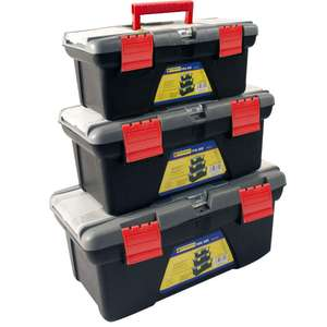 3PC PLASTIC TOOL BOX CHEST SET HANDLE TRAY & COMPARTMENT DIY STORAGE TOOLBOX £13.99 Delivered @ eBay - direct2publik