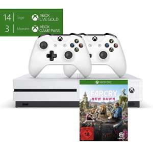Xbox One S + 2 Controllers + 14 Days Gold + 3 Months Game Pass + Farcry 229€ @ Amazon DE