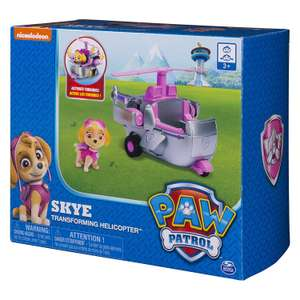 PAW Patrol — Skye's Transforming Helicopter with Flip-open Turbines was £15.99 now £7.99 + £4.49 delivery (Non prime) @ Amazon