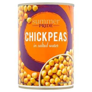 Summer Pride Chickpeas in Salted Water 400G 4 for £1 at Tesco