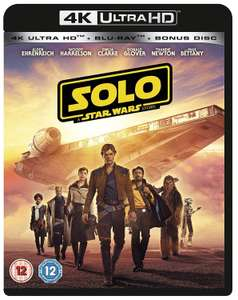 Solo - A Star Wars Story / The Last Jedi 4K Blu-Ray - £8.08 Each at Amazon
