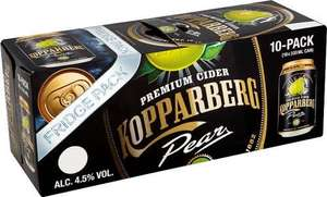 10 x 330ml cans of Kopparberg Premium Pear, Sweet Apple or alcohol free strawberry & lime cider £7 each @ Asda