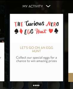 Extra stamps (6 stamps possibly) or a free drink in app when making a purchase this Easter @ Caffe Nero