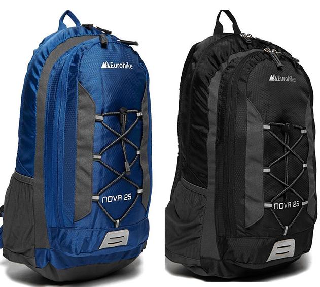New Eurohike Nova 25L Daysack Black/Blue (See OP for more camping equipment)- £10 @ millets-outdoor eBay