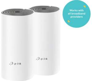 TP-LINK Deco E4 Whole Home WiFi System - Twin Pack £79.99 @ Currys