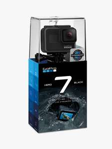 GoPro HERO7 Black £299 John Lewis & Partners with 2 years warranty