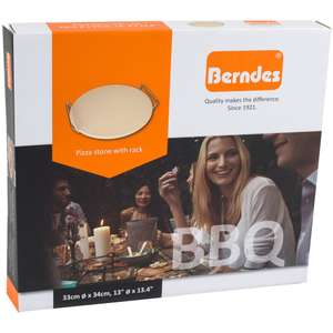 Berndes BBQ Pizza Stone With Rack was £10 now £5 C+C @ The Works