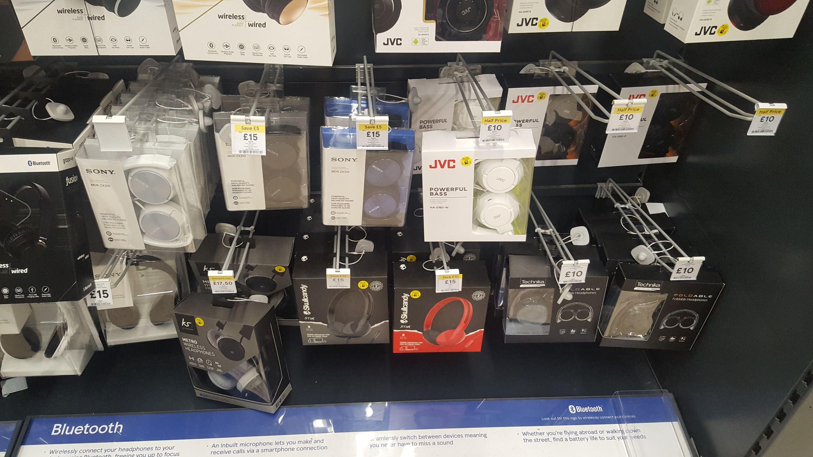 Bluetooth Wireless Headphones £10/£15 in Tesco Exeter EXE VALE Store