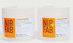 Nip+Fab Glycolic Fix Daily Cleansing Pads DUO  2 tubs for £6 at ASOS  (+£3 p&p)