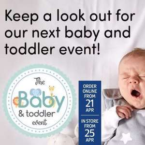 Now Live - Aldi Baby Event Pre-order Online + Instore 25/4 - eg Highchairs £19.99 / Travel Cot £34.99 / Dinner Winner Mealtime Tray £6.99
