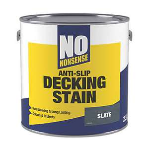 2.5l of anti-slip decking stain in 7 different colours / finishes now £16 for 2 part of Easter offers @ Screwfix