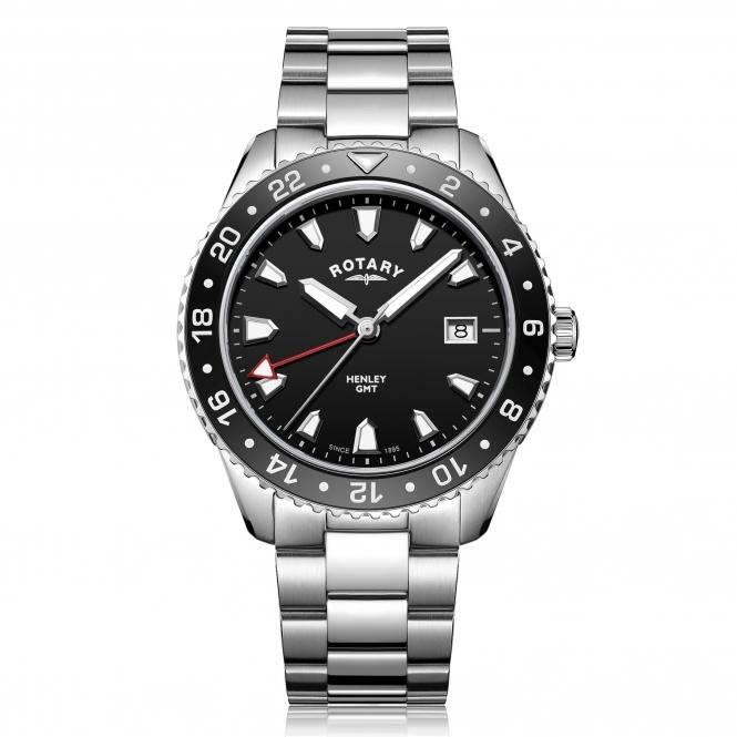 Rotary GB05108-04 Men's Henley GMT Wristwatch £99 HS Johnson