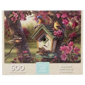 WHSmith Life In The Country Blossom Bird House 500 Piece Jigsaw Puzzle. Was £9.99, Now £1.99. Free C&C