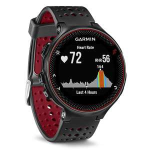 Garmin Forerunner 235 GPS Running Watch with Elevate Wrist Heart Rate and Smart Notifications, Black/Marsala Red £139.99 Amazon